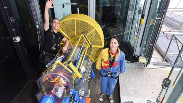 School boss jumps off Sky Tower to empower youth