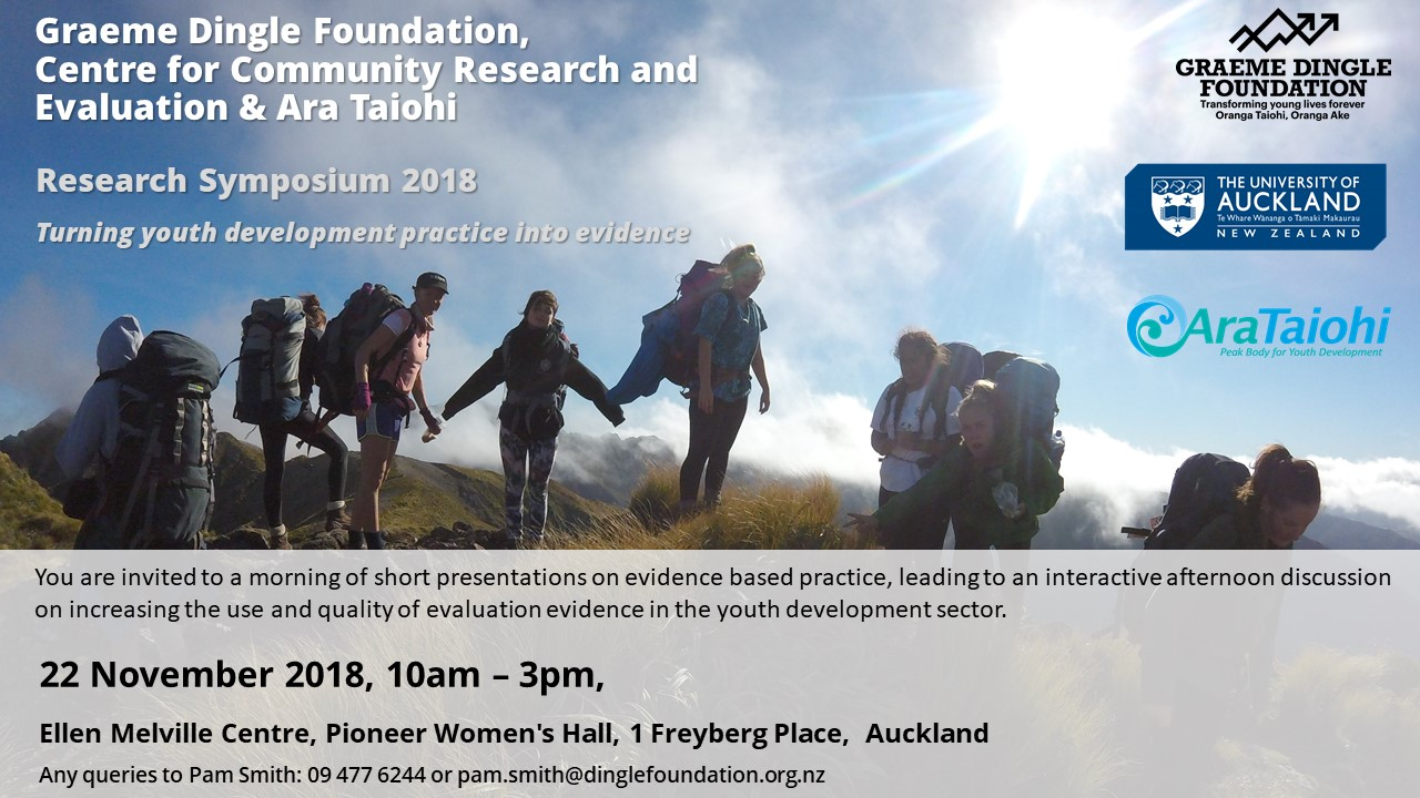 Research Symposium - Turning Youth Development Into Evidence