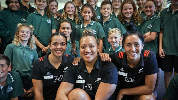 Bay of Plenty Times: Black Ferns Sevens stars visit Mount Maunganui school