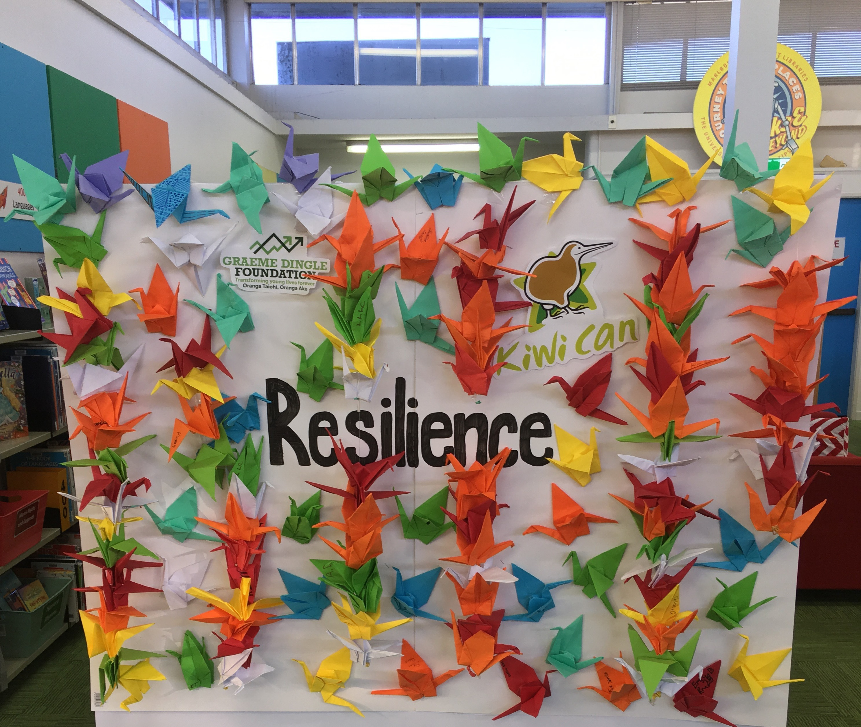 Resilience Display, Blenheim Library, June 2019