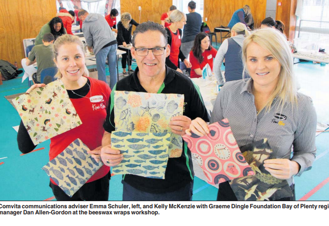 New Zealand Herald: Beeswax wraps workshop at Comvita staff's Helping Hands day