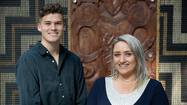 Kiwi Can leaders smiling at Excellence awards