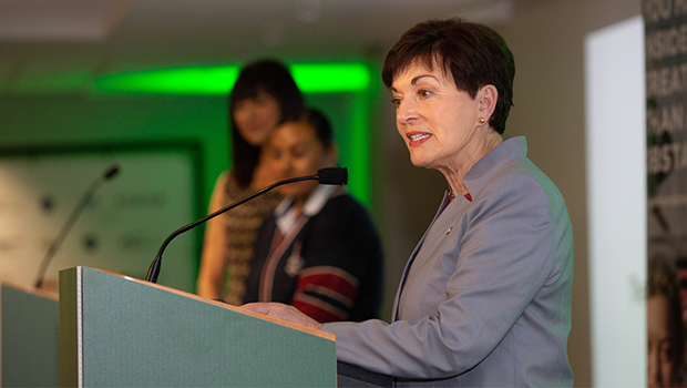 New Zealand's Governor General, Dame Patsy Reddy addresses young people at awards ceremony