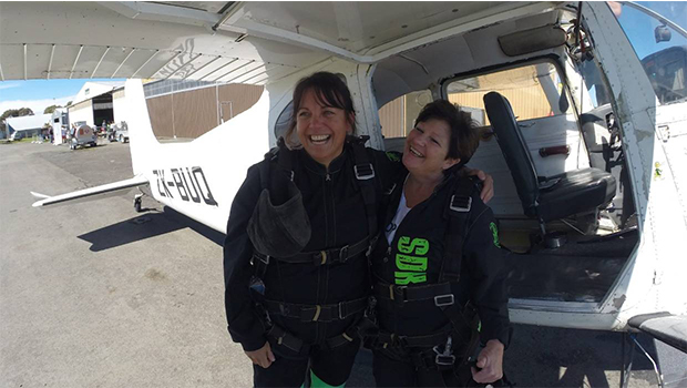tandem parachute jump as fundraiser for youth