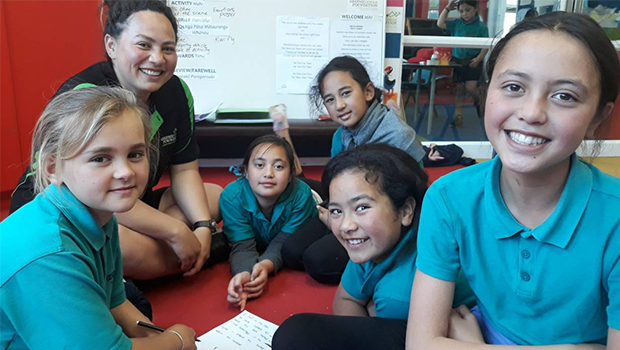 children attend Kiwi Can class where they learn life's values