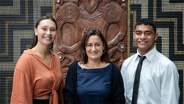 Graeme Dingle Foundation Marlborough staff smiling at the Excellence Awards