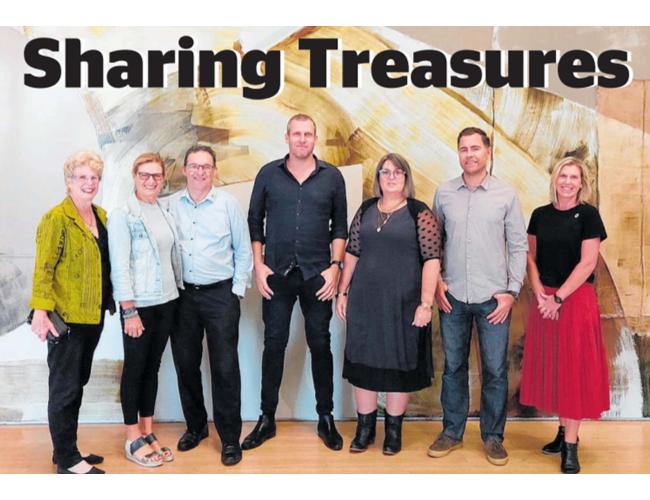 Treasured Art collaborators Kathy Webb, Barbara Whitton, Dan Allen-Gordon, Stephen Clelland, Jillian Peck, Duane Moyle and Mel McDonald