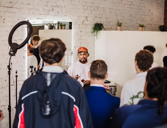 Geprgetown Barber and Career Navigator Students