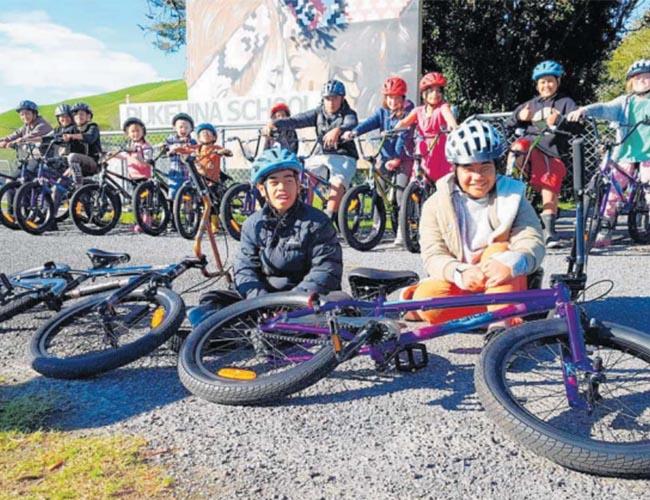 Pukehina pupils tap pedal power