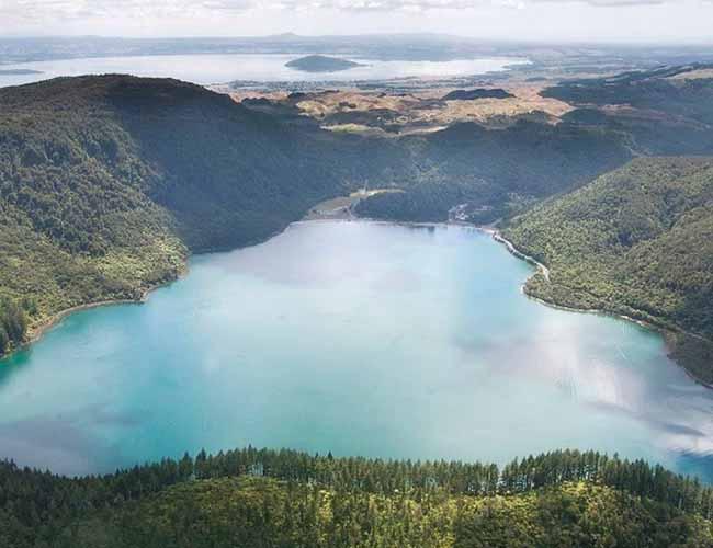 Ariel shot of Lake Rotorua